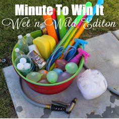 My Digital Creations: MINUTE TO WIN IT - Wet 'n Wild Edition
