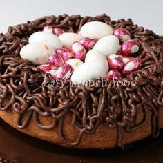 Easter Bundt Cake idea, birds nest. Too cute!!