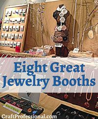 Click through for 8 photos of great jewelry booth, including al all-black booth that breaks all the rules http://www.craftprofessional.com/portable-jewelry-displays.html