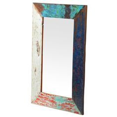 Grant Weathered Vintage Wall Mirror 36x24 – Hearts Attic