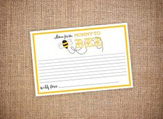 Mother to Bee - Baby Shower Advice Card (Digital file) on Etsy, $15.00