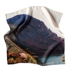 Sierra 2  43x43 Silk scarf  Digital printed  by lascoleccionistas, $48.00