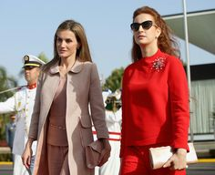 King Felipe and Queen Letizia continued their official visit to Morocco for a second and final day.  Official departure ceremony