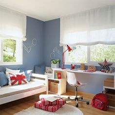 Decorate Room Small Youth Decoration Very Small Models With Images . Childrens Bedroom Decor, Teen Room Decor, Teen Bedroom, Baby Decor, Bedroom Ideas, Bedroom Workspace, Casa Kids, Pretty Bedroom, Small Rooms