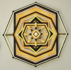 Wild Honeypot, an 18 inch, 8-sided Ojo de Dios, by custom order