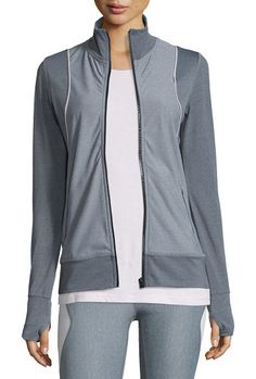 """On SALE at 51% OFF! Frontrunner Fitted Full-Zip Sport Jacket by ALALA. Alala """"Frontrunner"""" athletic jacket with body-contouring contrast panelsideal added layer for running on cooler days...."""