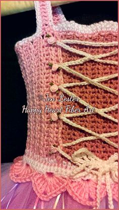 Happy Heart Fiber Art : crochet princess costume tutu dress pattern