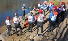 Teams drove through Mesa Verde, then followed clues to Durango, Colorado for a decidedly non-automotive challenge: river rafting. After a brief rafters meeting in stylish gear, the competitors took to the water for a 2.5-mile race down the Animas River. #AWAdventure