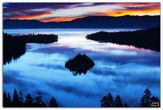 Emerald bay in lake Tahoe, Emerald Bay State Park, CA