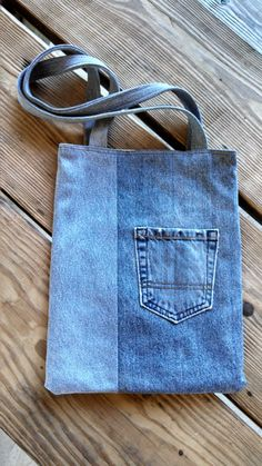 Recycled Denim Bag / Denim Purse / Upcycled by aRecurringDream, $40.00