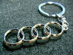 Amazon.com: Audi Keychain (logo): Everything Else