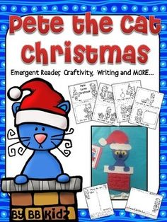 Pete the Cat Christmasincludes...An Emergent ReaderA Toy SortColor By NumberTracers for craftWriting prompts to go with craft...1. Deck the Halls (Decorate the Christmas tree)2. All I want for Christmas (What do you want for Christmas?)3. Pete saves Christmas ( How can Pete save Christmas?)4.