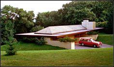 Thomas Keys house. 1950. Rochester, New York. Frank Lloyd Wright. Usonian. Photo, Thompson Photography