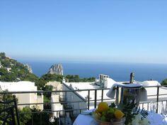 Hotel Regina Cristina in Capri - View of Faraglioni Rocks