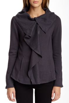 Blanc Noir Draped Fleece Cardigan by Blanc Noir on @nordstrom_rack