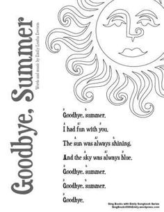 Goodbye, Summer w Chords for SBWE Songbook Series Words and Music by Emily Leatha Everson Gleichenhaus Page Coordinated by ELEG for SBWE Songbook Series To view or print this page, click here: SBWE SBS Goodbye Summer