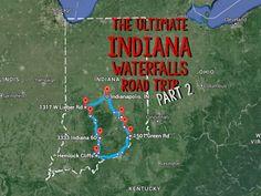 Southern Indiana Waterfalls #indiana #waterfalls