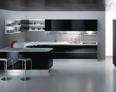 black kitchen design look