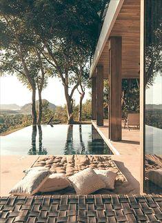 Design Patio, Exterior Design, Dream Home Design, House Design, Minimalism Living, Dream House Exterior, House Goals, Future House, Architecture Design