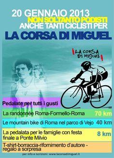 il prossimo 20 gennaio torna più avvincente che mai la sezione ciclistica della Corsa di Miguel