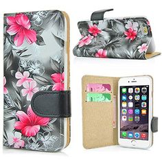 Apple iPhone 6/6s Leather Wallet Case With Magnetic Closure - Floral!