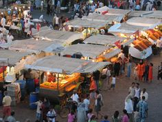 the famous Jemaa El-Fna square and market (part of UNESCO heritage), Marrakech