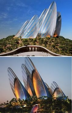 Wing Shape Zayed National Museum (UAE) This wing-shaped building is the Zayed National Museum designed by Foster + Partners. It is located on Saadiyat Island, Abu Dhabi, UAE, and will be the first museum completed for the island for showcasing the history Cultural Architecture, Baroque Architecture, Architecture Design, Creative Architecture, Futuristic Architecture, Beautiful Architecture, Contemporary Architecture, Building Architecture, Unusual Buildings