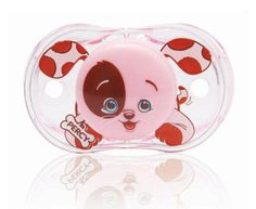 Pink Puppy – Our Keep it Kleen Pacifier that closes when dropped to keep the nipple free of germs and dirt. RaZbaby, A Happy Baby!