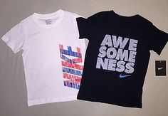BOYS SIZE 6 NIKE SHIRT LOT OF 2 NWT