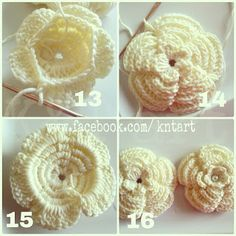 """""""The difference is in the details"""": Big and Small crochet flower ~ free pattern"""