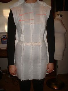 Sew Chic Pattern Company: Copy your Figure: A Dressform Tutorial part 2 Sewing Clothes, Diy Clothes, Dress Making Patterns, Pattern Making, Sewing Hacks, Sewing Tips, Sewing Tutorials, Sewing Crafts, Sewing Projects