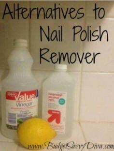 I wonder if its safer than nail polish remover?Alternatives to Nail Polish Remover Homemade Beauty, Diy Beauty, Pedicure, Nail Tips, Manicure Tips, Manicures, Tips Belleza, Up Girl, Diy Nails
