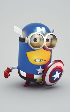 Captain Minion by Wagner de Souza, via Behance: