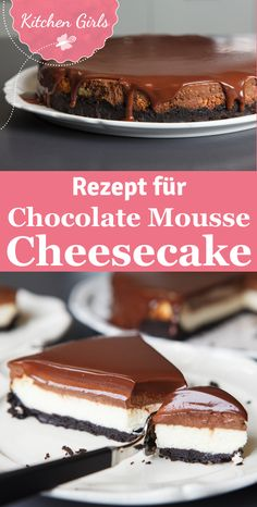 Chocolate Mousse Cheesecake with Oreo Base - OMG! You have to try this chocolate sin! We have the recipe for the most delicious Chocolate Mousse - Chocolate Torte, Chocolate Mousse Recipe, Chocolate Cheesecake, Delicious Chocolate, Chocolate Desserts, Torte Au Chocolat, No Bake Desserts, Dessert Recipes, Oreo