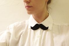 MUSTACHE AS BOWTIE  by EricasNeuMann via Etsy. I actually don't want this, but I thought @Meredith Monroe might.