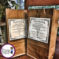 Paper bags have always been there to hold our stuff but it's time to give the paper bag the glory it deserves! Here are 8 clever classroom uses that'll make you want to brown bag it this school year. Includes - All About Me Bag FREEBIE! ⭐️ Pin for later ⏳ argumentative essay structure, how long should an essay be, character analysis essay, college essay header, comparison and contrast words, classification essay Get To Know You Activities, All About Me Activities, Preschool Activities, All About Me Eyfs, All About Me Preschool, Beginning Of School, First Day Of School, Back To School, Teaching Skills
