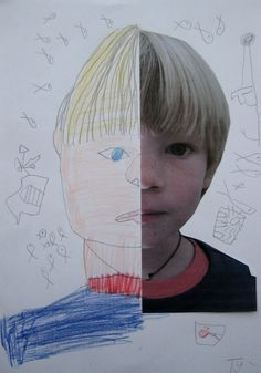 Symmetry and self drawings- such a fun art project & lesson for kids!