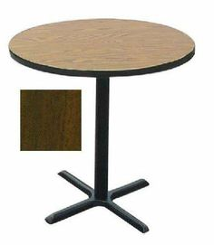 Correll Bxb36R-01 Cafe and Breakroom Tables - Round Bar Stool-Standing Height - Walnut by CORRELL. $296.00. 1.25 inch High Pressure laminate Top with Backer Sheet Black T-Mold edging standard Cast Iron X-Base and Top Spider 3 inch diameter Steel Column Nylon Leveling Glides All metal parts have Black Textured finishDimensions: 42 H x 36 diaSee inset for table color. Save 23%!
