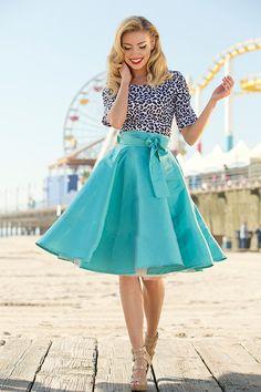 Blue Racer Skirt | Ferris Wheel Collection by Shabby Apple