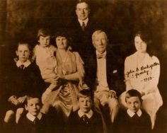 John D. Rockefeller with Family Vintage Photograph