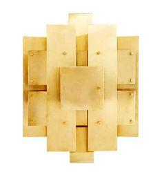 Applique Puzzle Sconce / Laiton - 38 x 48 cm Laiton - Jonathan Adler