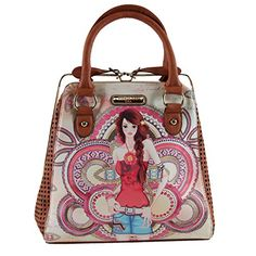 Women's Top-Handle Handbags - Marina Print Frame Bag -- You can get more details by clicking on the image.
