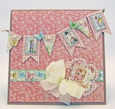 Barbara Schram designer - card made with Graphic 45 Little Darlings collection