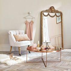 Miroir à moulures dorées 90x161cm ...