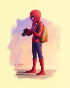 Spider Man, Leonardo Araújo on ArtStation at https://www.artstation.com/artwork/1WJl3