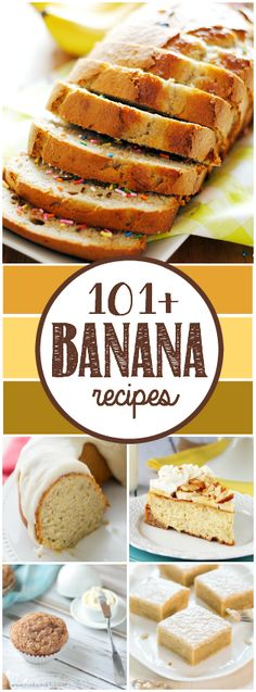 Over 100 Banana recipes including amazing variations of muffins, breads, and cakes!