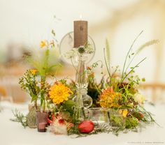 Zita Elze Wedding Flowers - Zimbabwean British Fusion Wedding - allium, crocosmia, roses, dahlia, protea and fresh fruit table decorations. Photograhy Julian Winslowlp-33-c_wm