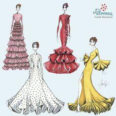 Después de empezar a conocer lo que nos tiene preparado esta temporada, vosotras ¿con qué os quedáis? ¿trajes de nejas o de volantes? . . . . . . . . . #Patronesmodaflamenca #patronistaflamenca #modaflamenca #trajedegitana #trajedeflamenca #volantes #lunares#love #fashion #style #stylish #design #instafashion #girl #moda #diseñodemoda #patrones #patronaje #flamencas #flamenca #horaflamenca #nuevatemporada #flamencura #nejas #flamencasperfectas #flamenca2018 #patronaje #patrones Fashion Sketchbook, Fashion Sketches, Dance Dresses, Ball Dresses, Painted Toy Chest, Flamenco Costume, Birthday Dresses, Vintage Outfits, Fashion Dresses