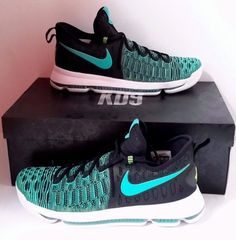a0435cee206f Nike Zoom KD 9 Birds Of Paradise KD9 Kevin Durant Green Black Size 843392  300 DS