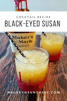 Susan This riff on the classic Black-Eyed Susan for the Preakness Stakes, using my favorite bourbon instead of rum. This riff on the classic Black-Eyed Susan for the Preakness Stakes, using my favorite bourbon instead of rum. Classic Old Fashioned Bourbon Mixed Drinks, Bourbon Cocktails, Cocktail Drinks, Cocktail Recipes, Bourbon Smash, Fancy Drinks, Liquor Drinks, Whiskey Drinks, Alcoholic Drinks